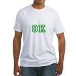 green OK Fitted T-Shirt