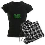 green OK Women's Dark Pajamas