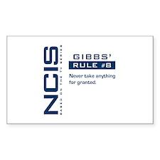 NCIS Gibbs' Rule #8 Decal