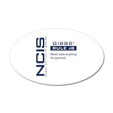 NCIS Gibbs' Rule #8 22x14 Oval Wall Peel
