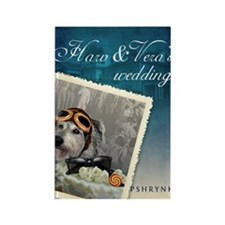 H&V Wedding Rectangle Magnet
