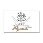 Elizabethan Pyrate Insignia Car Magnet 20 x 12