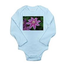 Clematis 'Nelly Moser' Long Sleeve Infant Bodysuit