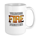 Volunteer Firefighter Ceramic Mugs