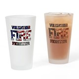 Volunteer Firefighter Drinking Glass