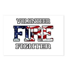 Volunteer Firefighter Postcards (Package of 8)