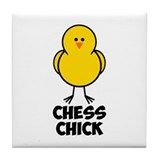 Chess Chick Tile Coaster