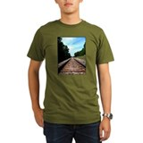 .railroad tracks. color T-Shirt