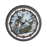 Mature Mule deer bucks Wall Clock