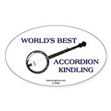 accordion kindling Oval Decal