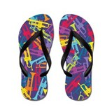 Colorful Trumpets Flip Flops