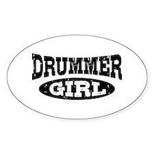 Drummer Girl Bumper Stickers