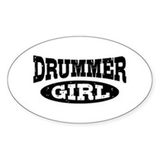 Drummer Girl Stickers