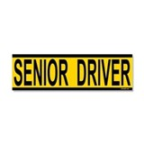 Senior Driver Car Magnet 10 x 3