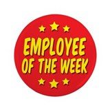 "Employee of the Week 3.5"" Button (10 pack)"