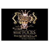 Shakespeare Fools Quote Wall Art