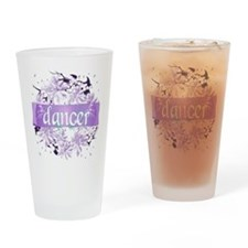 Crystal Violet Dancer Wreath Drinking Glass