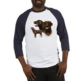 Chocolate Labrador Retriever Baseball Jersey
