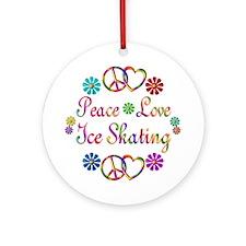 Love Ice Skating Ornament (Round)