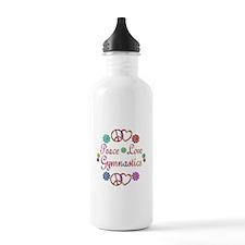 Peace Love Gymnastics Water Bottle