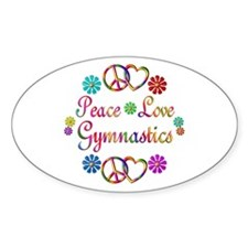 Peace Love Gymnastics Decal