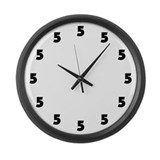 Five O'Clock Large Wall Clock