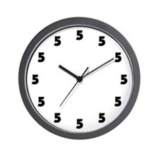 Five O'Clock Wall Clock