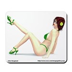 Tabby 2 In Green Bikini Mousepad
