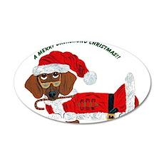 A Merry Dachshund Christmas Candy Cane Santa 20x12