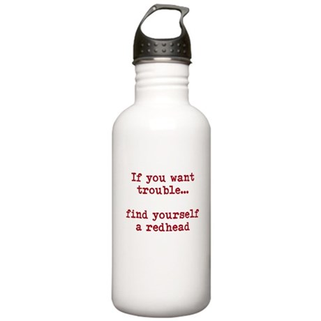 Redhead Trouble Stainless Water Bottle 1.0L