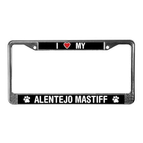 I Love My Alentejo Mastiff License Plate Frame