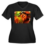 .elements of autumn. Women's Plus Size V-Neck Dark