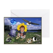 Virgo Baby Astrology Greeting Cards (Pk of 10)