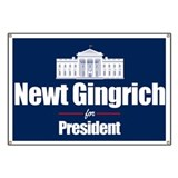 Gingrich President Banner