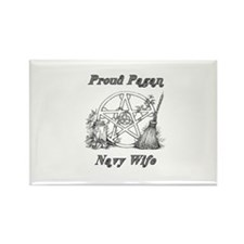 pagan navy wife Rectangle Magnet