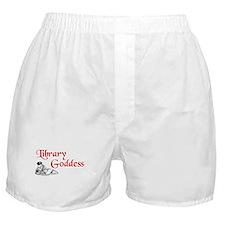 Library Goddess Vintage Boxer Shorts