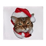 Santa Bengal Cat Throw Blanket