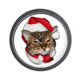 Santa Bengal Cat Wall Clock