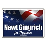 Newt Gingrich 2012 Banner
