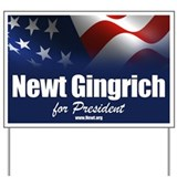 Newt Gingrich 2012 Yard Sign