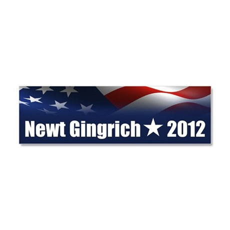 Newt Gingrich 2012 Car Magnet 10 x 3