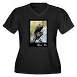 Climb On Lizard Women's Plus Size V-Neck Dark T-Sh
