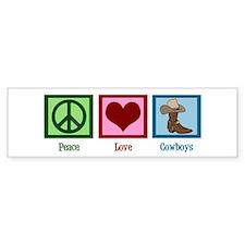 Peace Love Cowboys Car Sticker