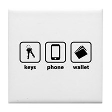 Keys Phone Wallet Tile Coaster