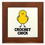 Crochet Chick Framed Tile