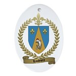 LOUVIERE Family Crest Oval Ornament