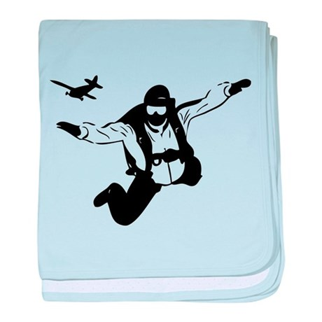 Skydiving baby blanket