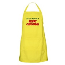 Say Merry Christmas Apron