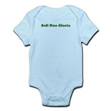 Soli Deo Gloria Green Infant Bodysuit