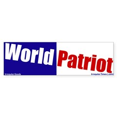 World Patriot Bumper Sticker